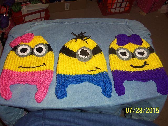 Loom Knit Minion Hat - Updated Pattern pattern by Nancy Taylor ...