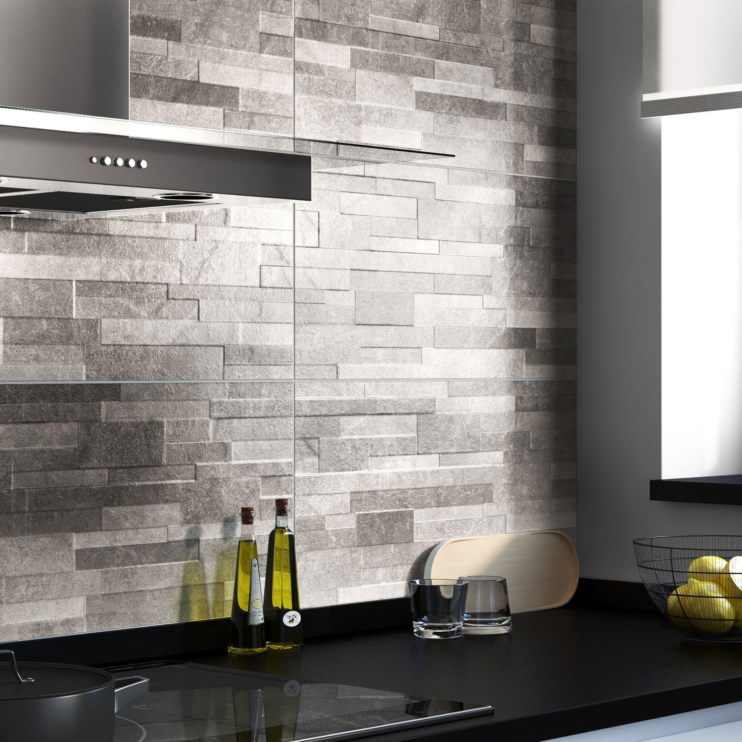 Support Pate Blanche Carrelage Mural Cuisine Mur Gris