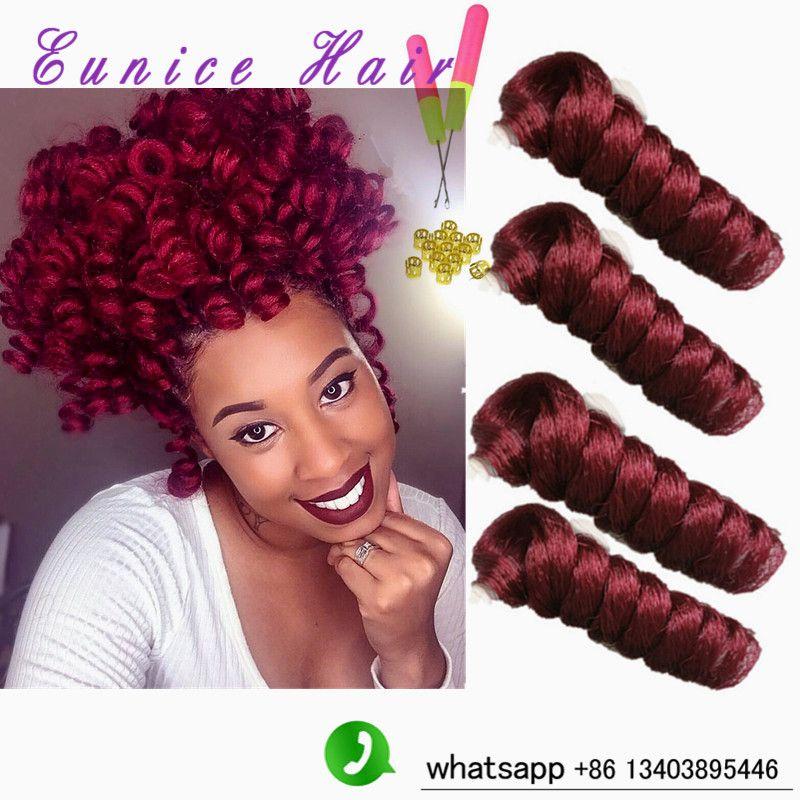 Synthetic Kanekalon Curls Jamaican Bounce Crochet Hair