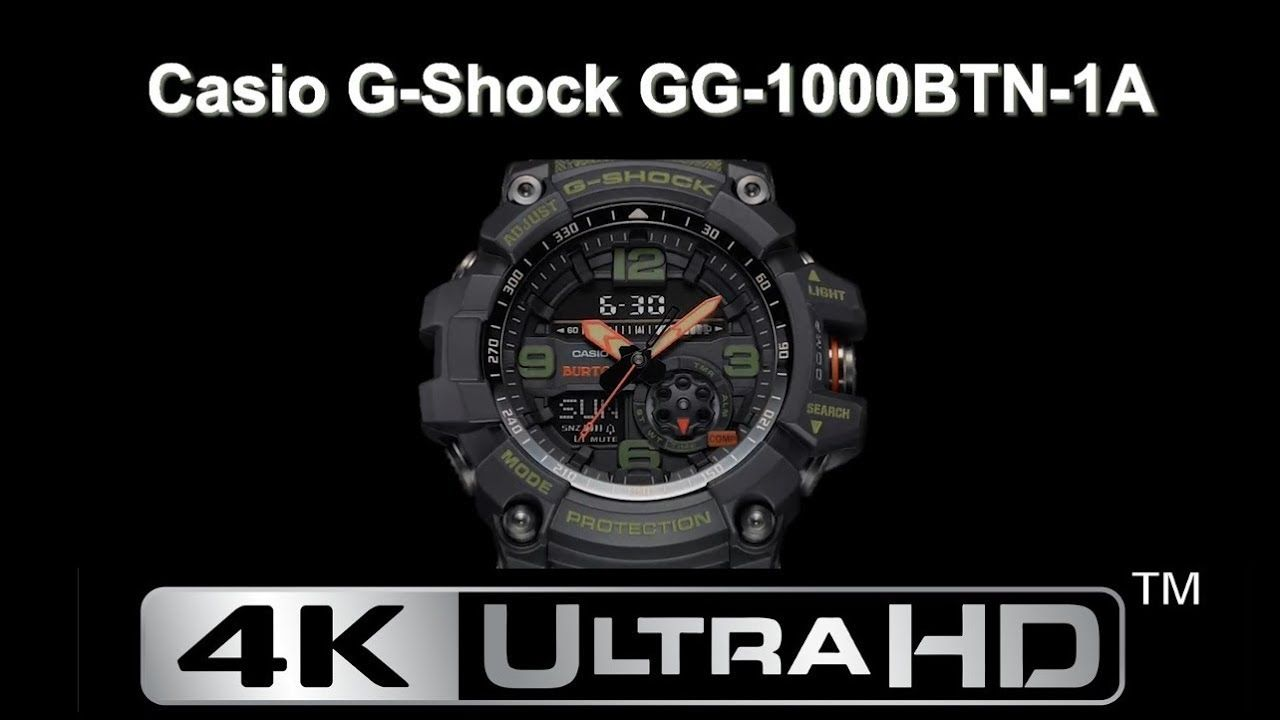 Casio G Shock Burton Gg 1000btn 1a 4k Uhd Limited Edition Watch Ga 110hr 1adr Video 2018