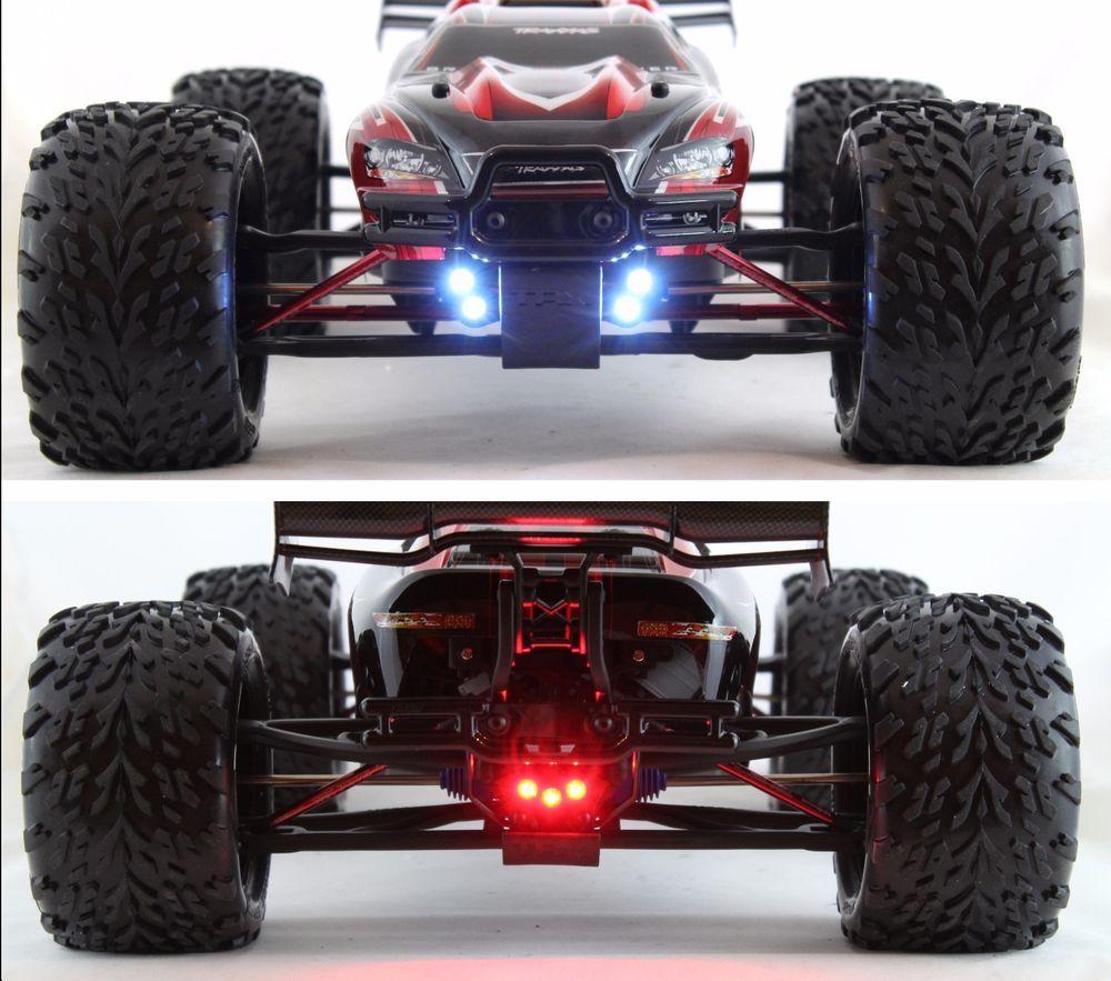 Led Lights Front And Rear Traxxas E Revo 1 0 2 0 Vxl 1 10 Waterproof By Murat Rc E Revo Traxxas Led Lights