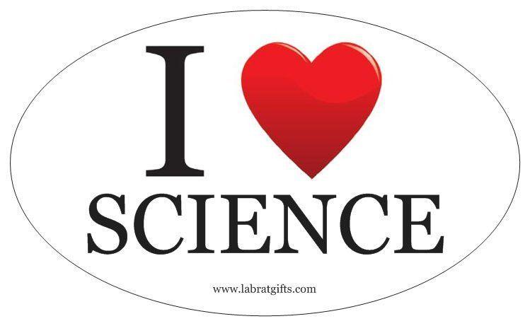 I love Science Oval Sticker