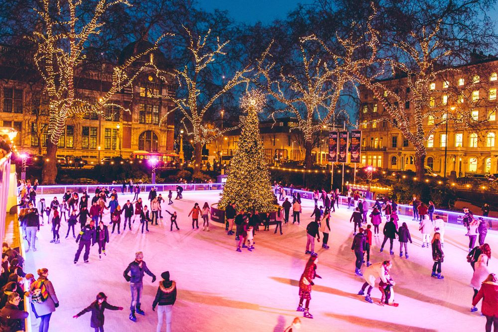 Image result for christmas ice skating