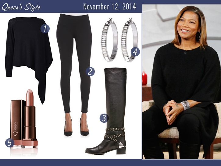 Get Queen Latifah's look of the day for November 12, 2014.