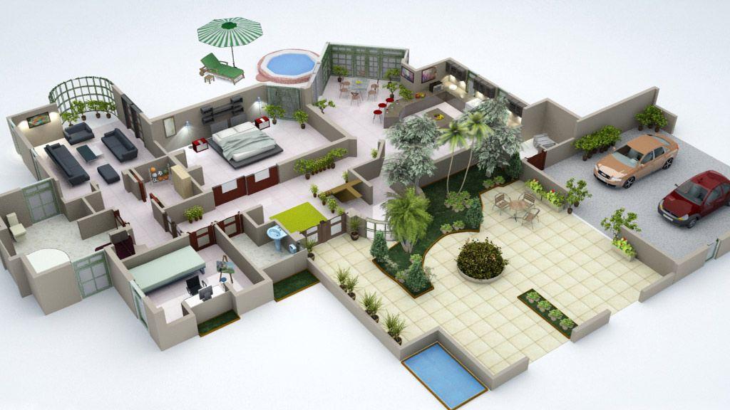 Open Space House Planos De Casas Hermosas Planos De Casas Diseno De Interior Para Apartamento