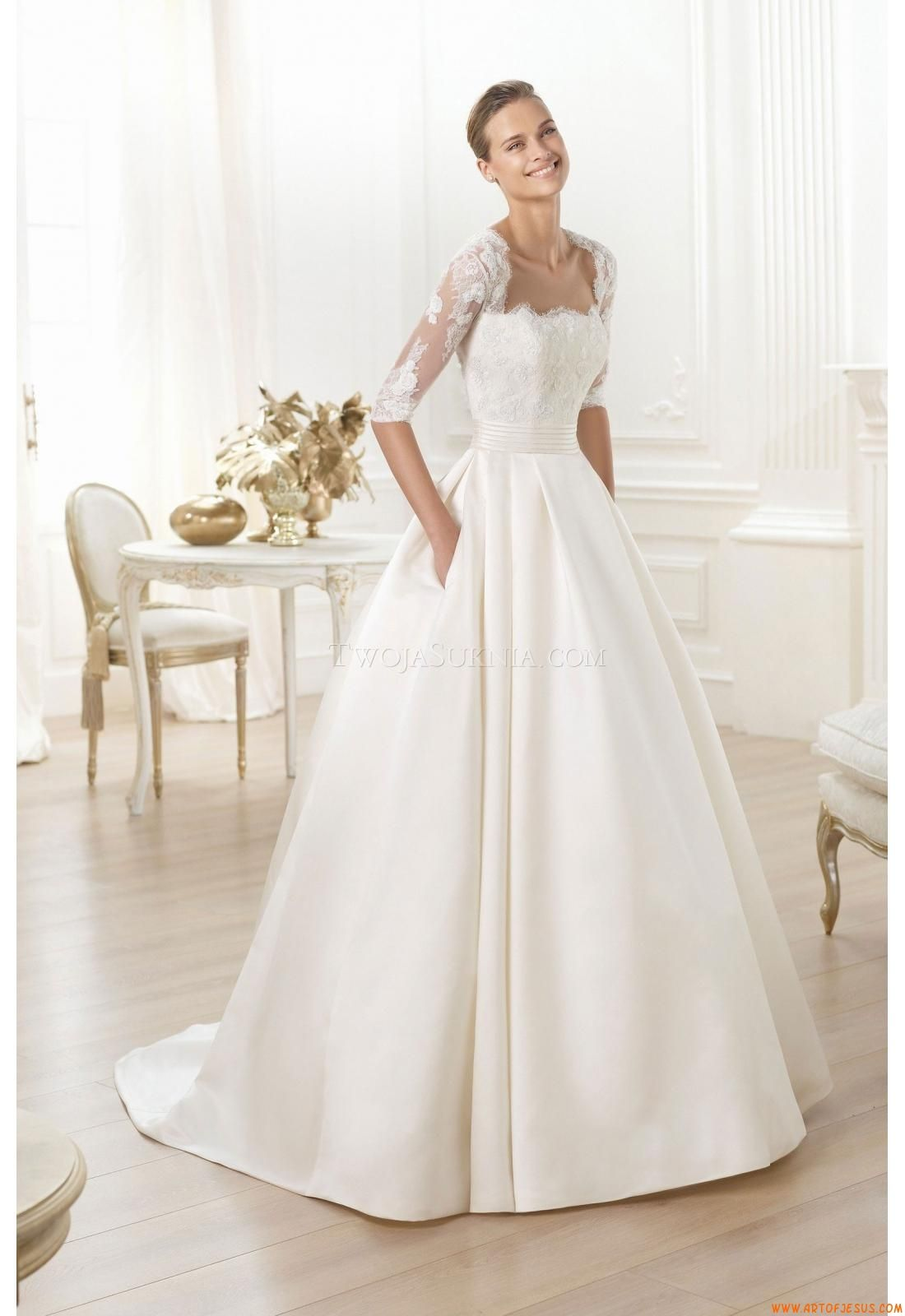 Wedding dresses pronovias leslie one day pinterest