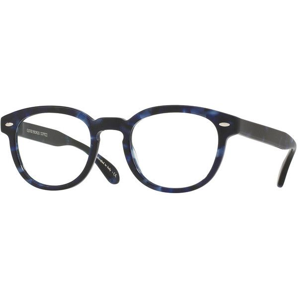 148c06f46b9 Oliver Peoples Sheldrake Square Optical Frames ( 340) ❤ liked on Polyvore  featuring accessories