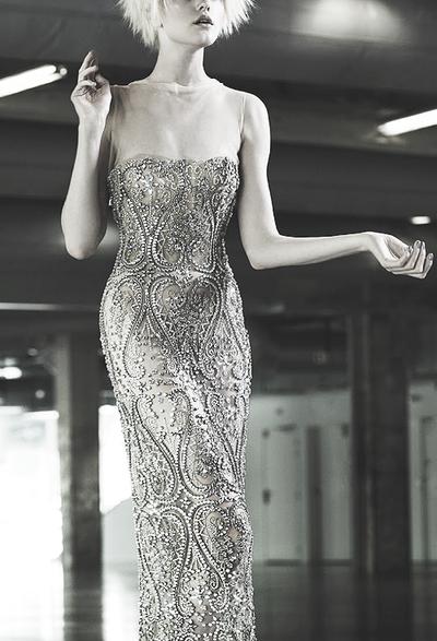Vlada Roslyakova wearing Jean Paul Gaultier Couture ph. by Naomi Yang | Vogue Taiwan, Oct. 2012.