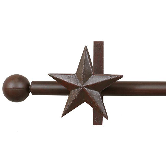 Star Curtain Rod Rod Holders Western Curtains Curtain Rods