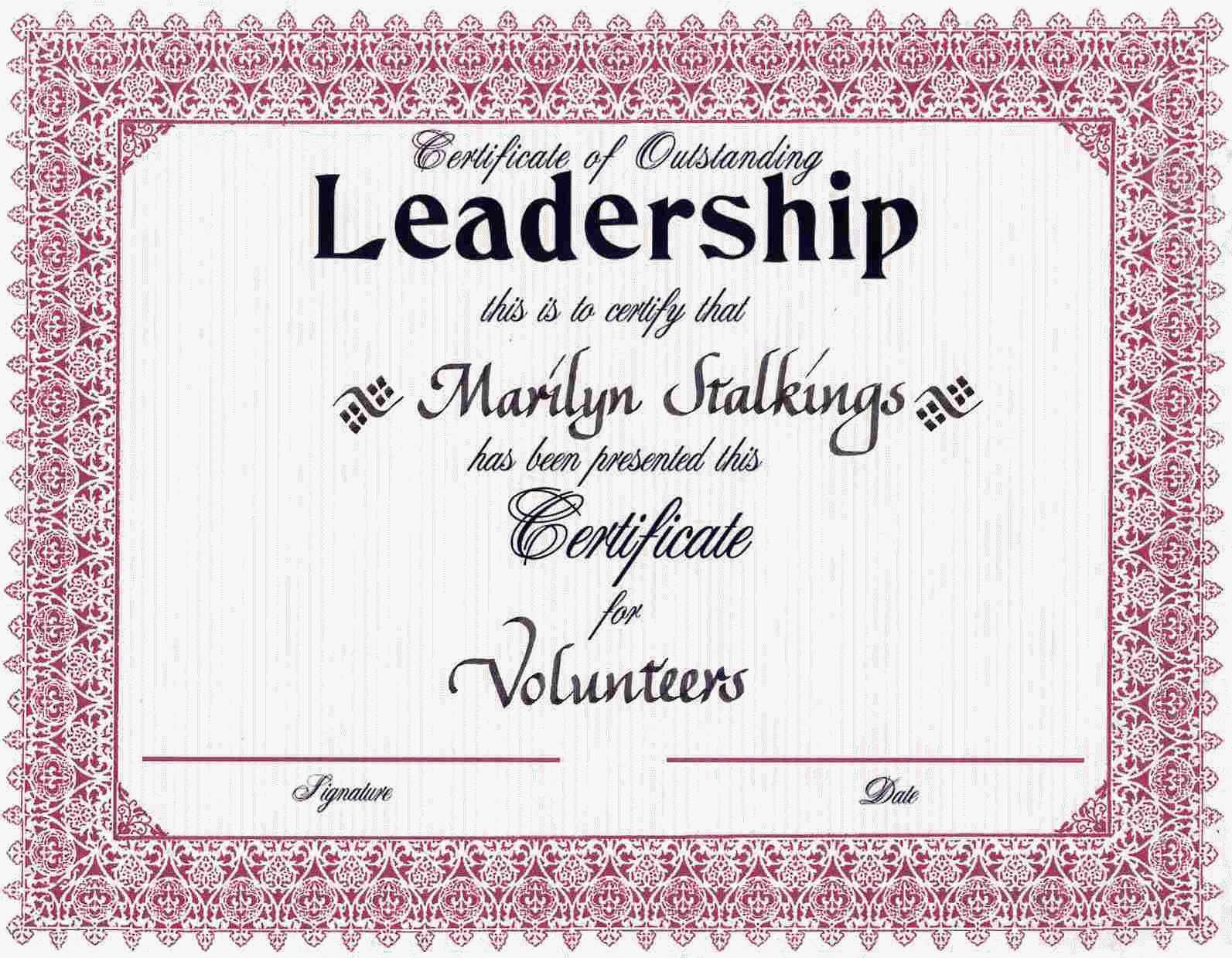 Award certificates leadership award certificates cookie pinterest for Leadership certificate template
