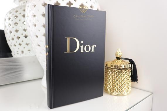 1 BOOK DESIGNER INSPIRED Black & Mirrored Gold Blank Book ...