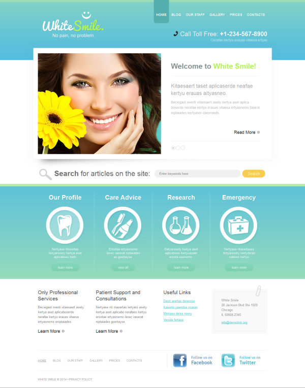 Dentist wordpress themes - dental clinic wordpress themes ...