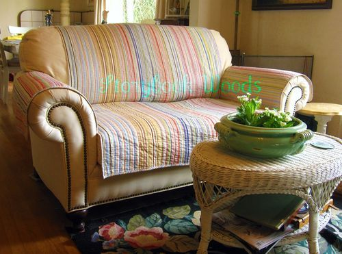 Make Your Own Loveseat Protector Diy Couch Cover Diy Sofa Cover
