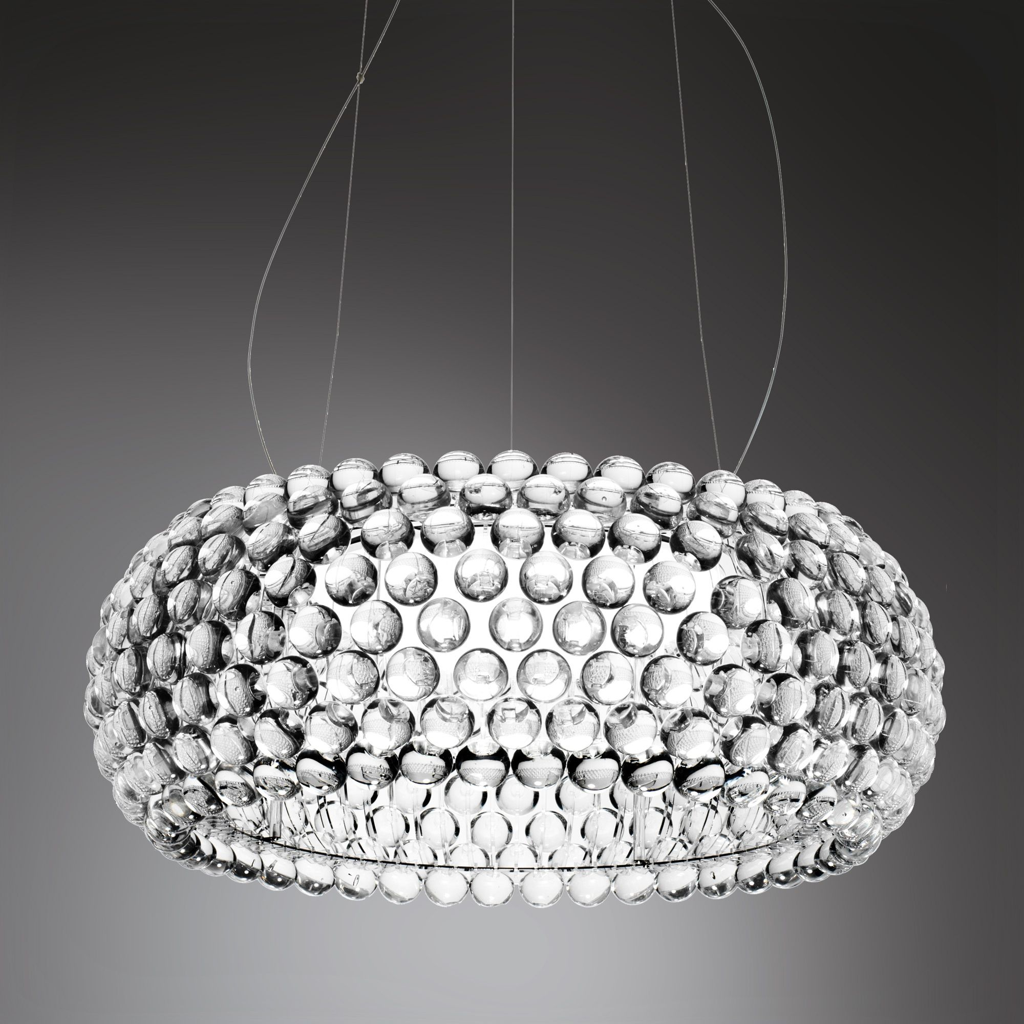 Lampe Caboche Patricia Urquiola foscarini caboche grande pendant light l: 70 h: max. 500 cm