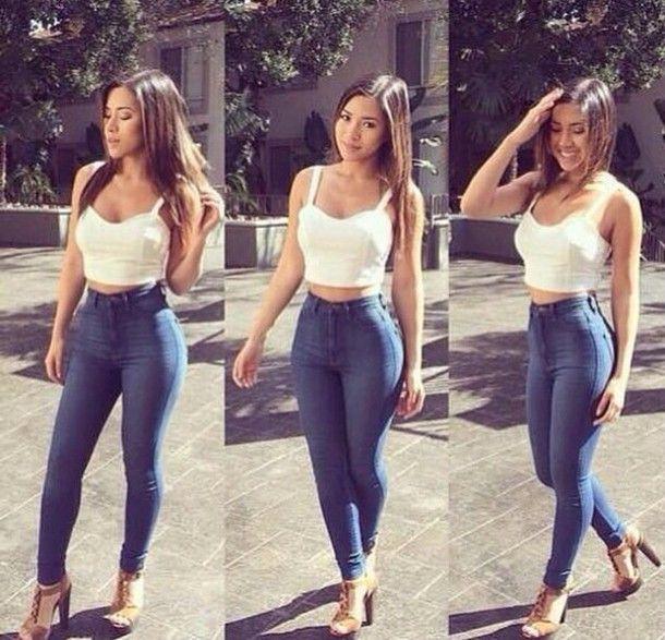 Bustier Y Jeans Buscar Con Google Jeans A La Cintura Ropa Juvenil Femenina Moda Ropa De Moda