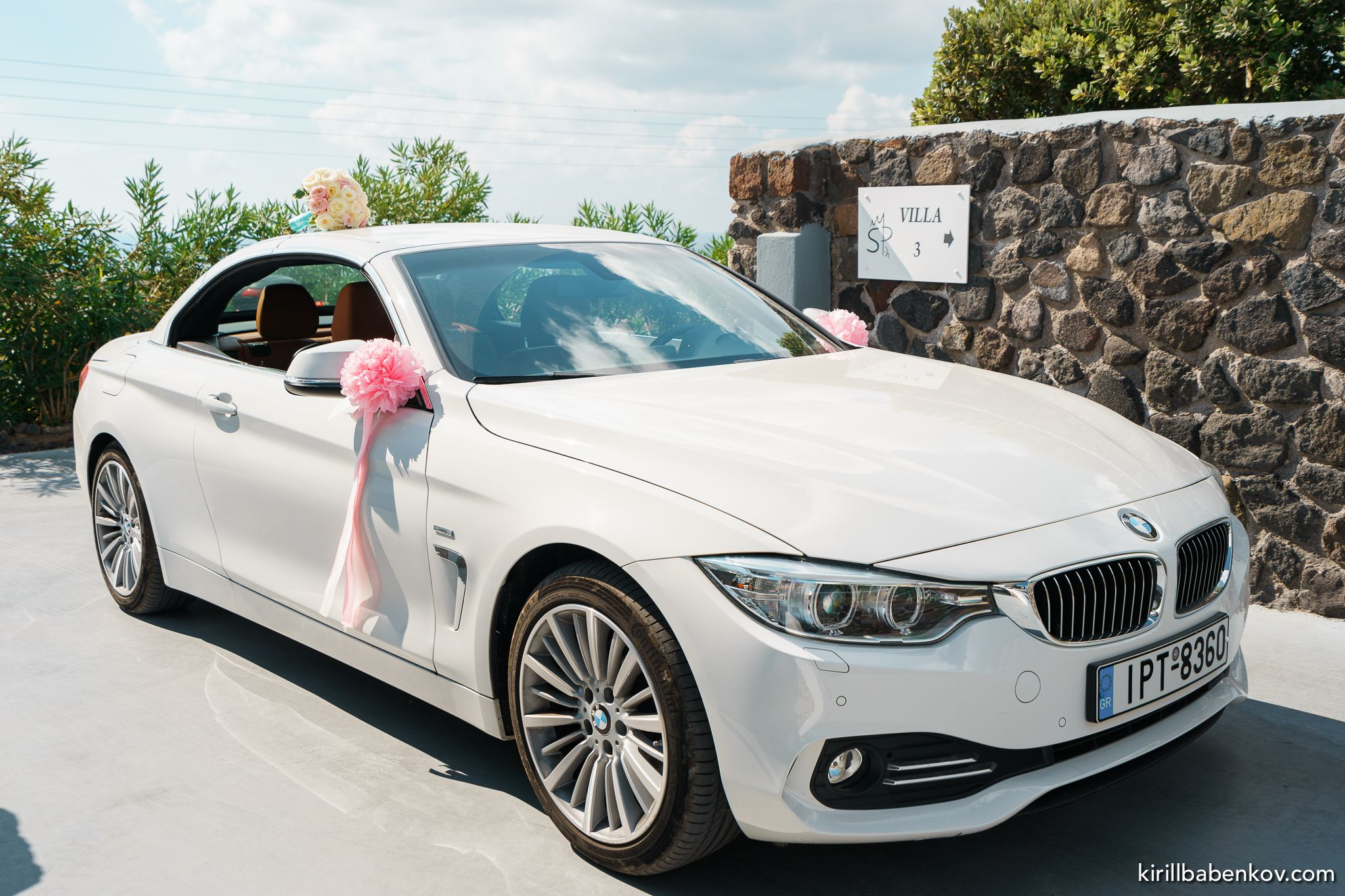 Bmw cabrio 420d wedding car decoration wedding for Automobile decoration
