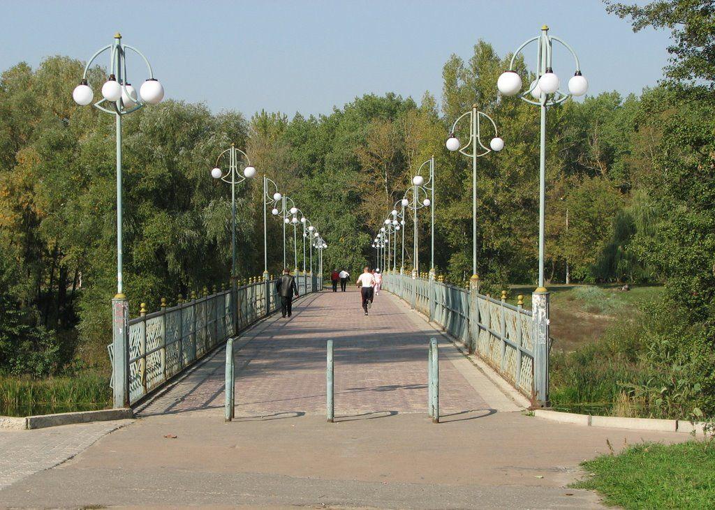 Фото Пешеходный мост через речку Псел в городе Сумы ...