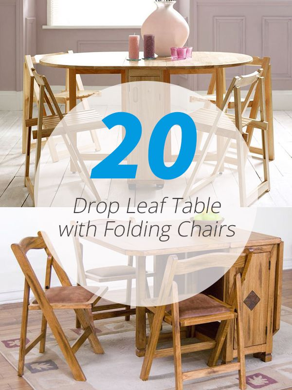 20 Drop Leaf Table With Folding Chairs Chairs Folding