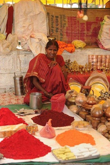 Market, India,