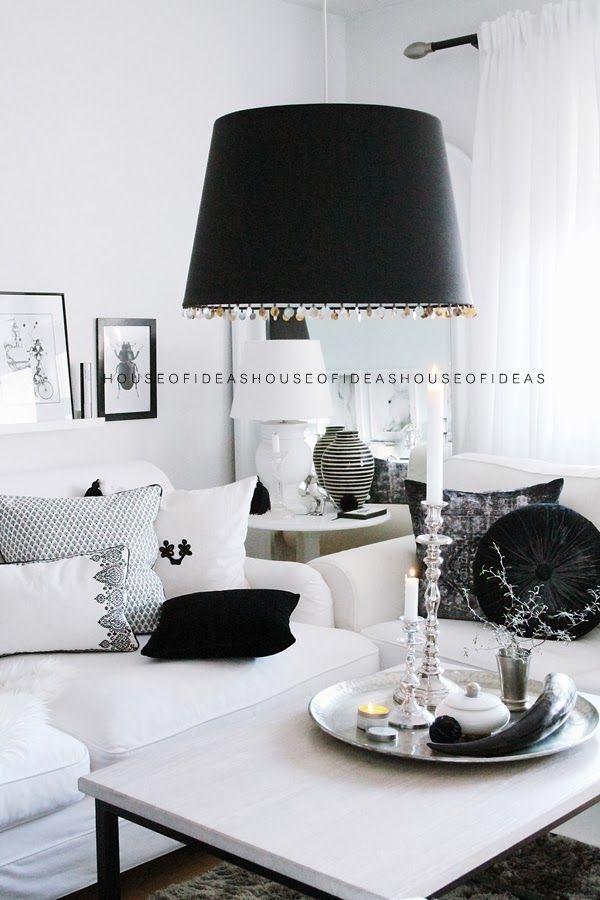house of ideas black n white pinterest wohnzimmer schwarz weiss neue wohnung und wohnen. Black Bedroom Furniture Sets. Home Design Ideas