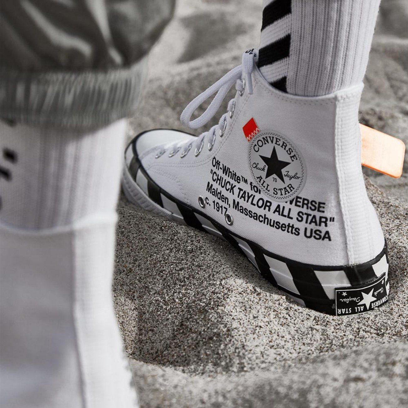 Off White x Converse Chuck 70 Stripe White in 2020 | Off