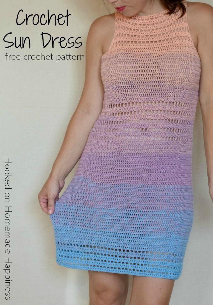 Crochet Sun Dress Pattern Dresses And Skirts Pinterest Crochet