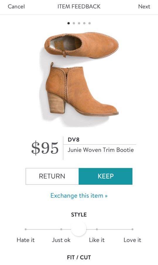 5e2a18a45b DV8 Junie Woven Trim Bootie from Stitch Fix. https://www.stitchfix