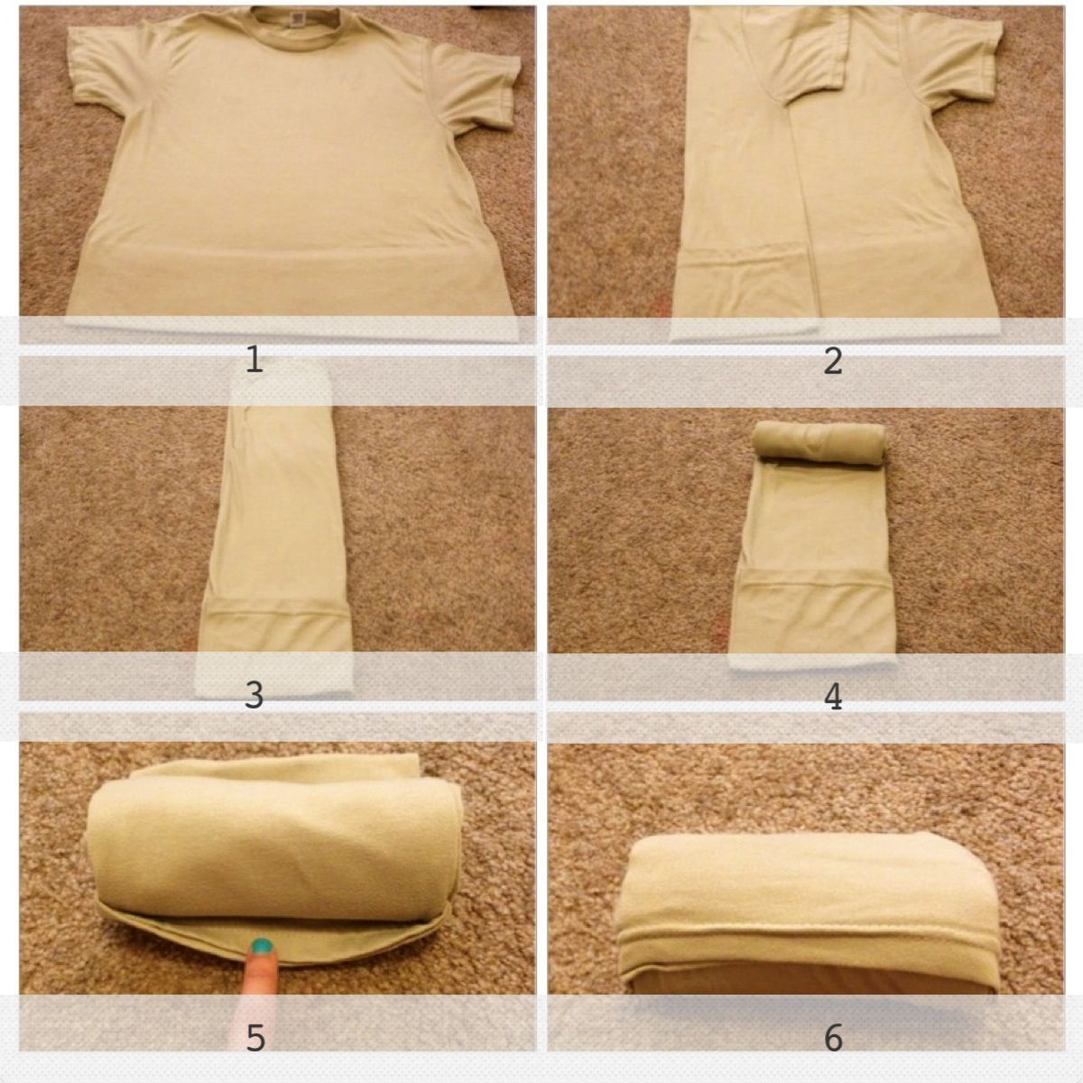 How To Fold Your Hubby S Tan Tshirts To Save Space When He