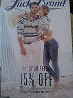 lucky brand coupon