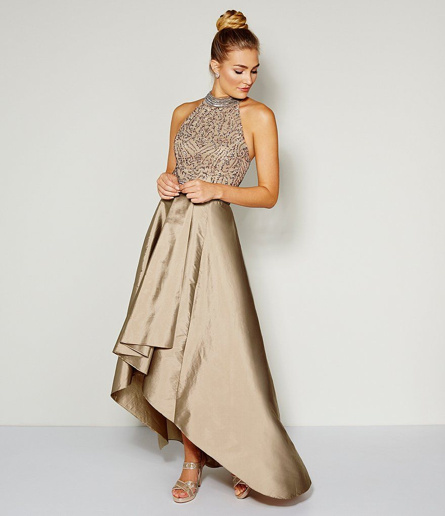 4a732fc1763 Shop for Adrianna Papell Beaded Halter Hi-Low Gown at Dillards.com. Visit  Dillards.com to find clothing