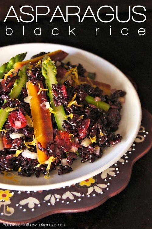 Black Rice Salad With Cranberries