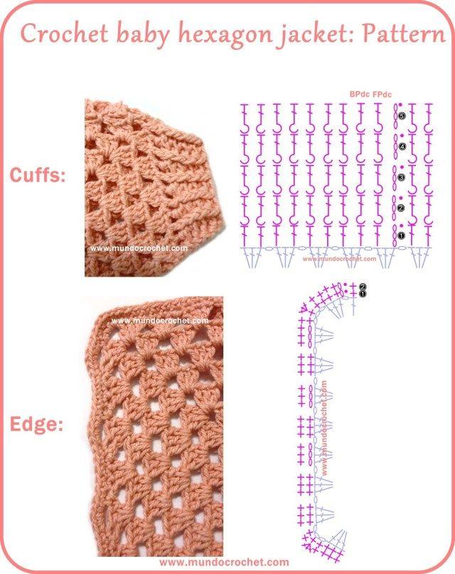 Crochet hexagon jacket / Crochet hexagon sweater | Crochet - A ...