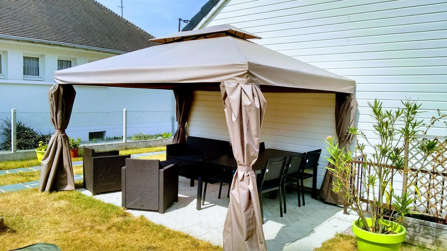 rideau terrasse rideau terrasse with rideau terrasse best ides de pergola avec rideaux moderne. Black Bedroom Furniture Sets. Home Design Ideas