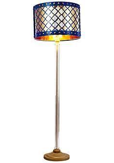 Beverley Gold And Navy Blue Column Floor Lamp Modern Lamp Design