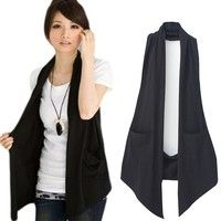Women's Fashion Long Vest Coat Women Sleeveless Cardigan Top Casual Office Party Jacket | Wish #womenvest