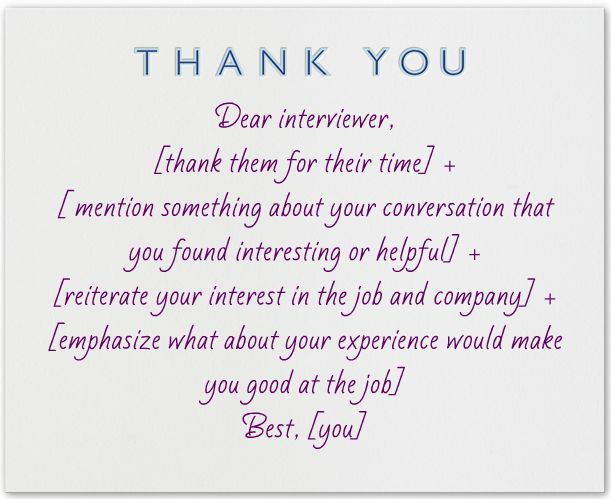 What To Write In A Thank You Note After An Interview  Letter