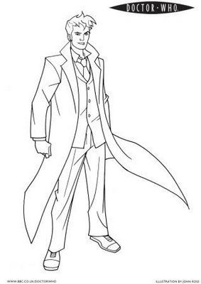 Blithe Remarks Doctor Who Coloring Pages Cores Colorir Desenho