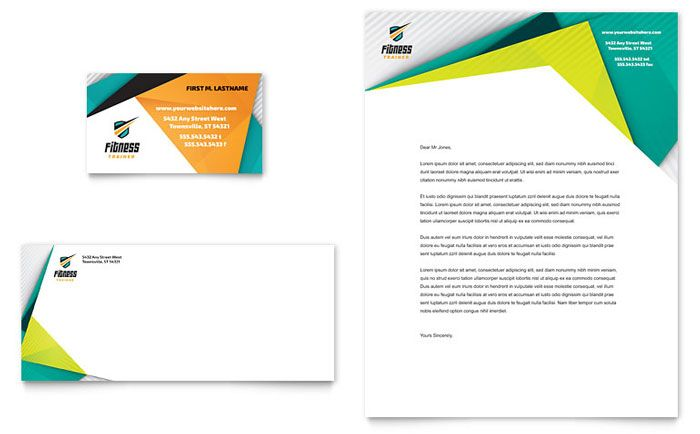letterhead graphic design inspiration - Google Search Design - sample business envelope template
