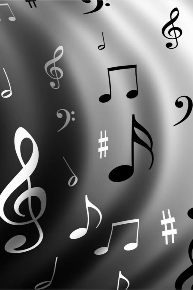 Music Note Symbols Iphone Wallpaper Background Wallpaper Iphone