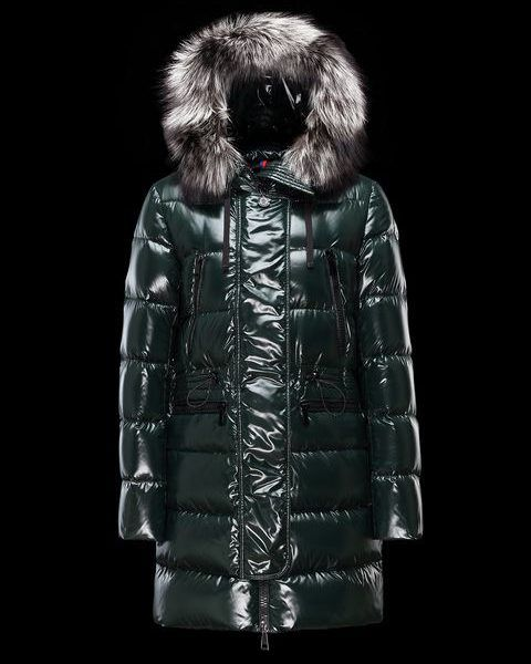 MONCLER APHROTITI LONG Down Jacket – Ladies – Dark green. Cheap Moncler Women's Jackets for Sale, Ladies Jacket from Moncler UK Outlet Online