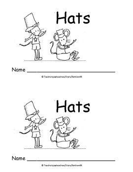 Kindergarten Word Problems Mini Book: Addition: Hats: K.OA