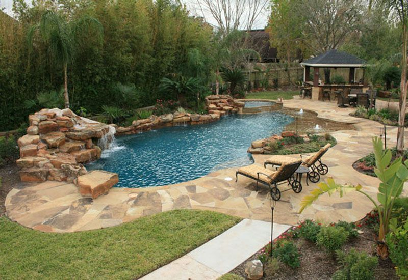 Natural Swimming Pools Natural Free Form Swimming Pools Design 173 Backyard Pool Landscaping Pool Landscaping Backyard Pool