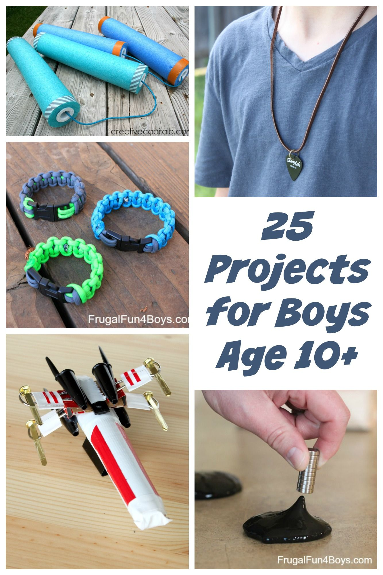 "Need craft or project ideas for older boys?  My 11 year old (almost 12) helped me choose this collection of projects, so these are things that are ""boy approved.""  When we say this, of course, we're not meaning that girls wouldn't like these ideas or shouldn't do them!  It's simply a collection of things that...Read More »"