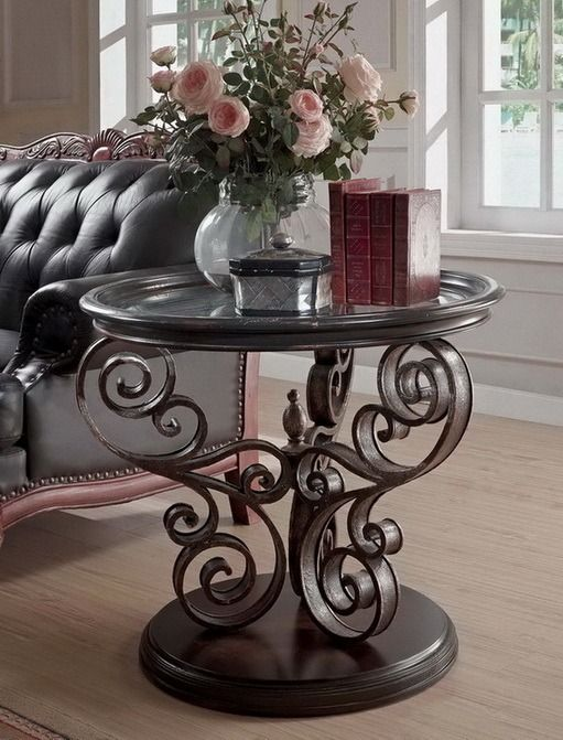 Pleasant Sorrento Round End Table In Brown Eastern Legends Gmtry Best Dining Table And Chair Ideas Images Gmtryco