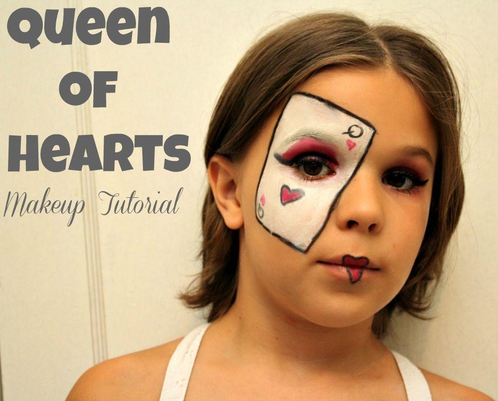 Queen Of Hearts Makeup Tutorial Queen Of Hearts Makeup Kids Makeup Diy Halloween Costumes For Kids