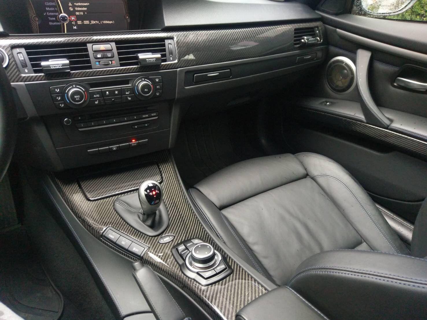 Carbon Fiber Interior Trim Kit On A Bmw E92 M3