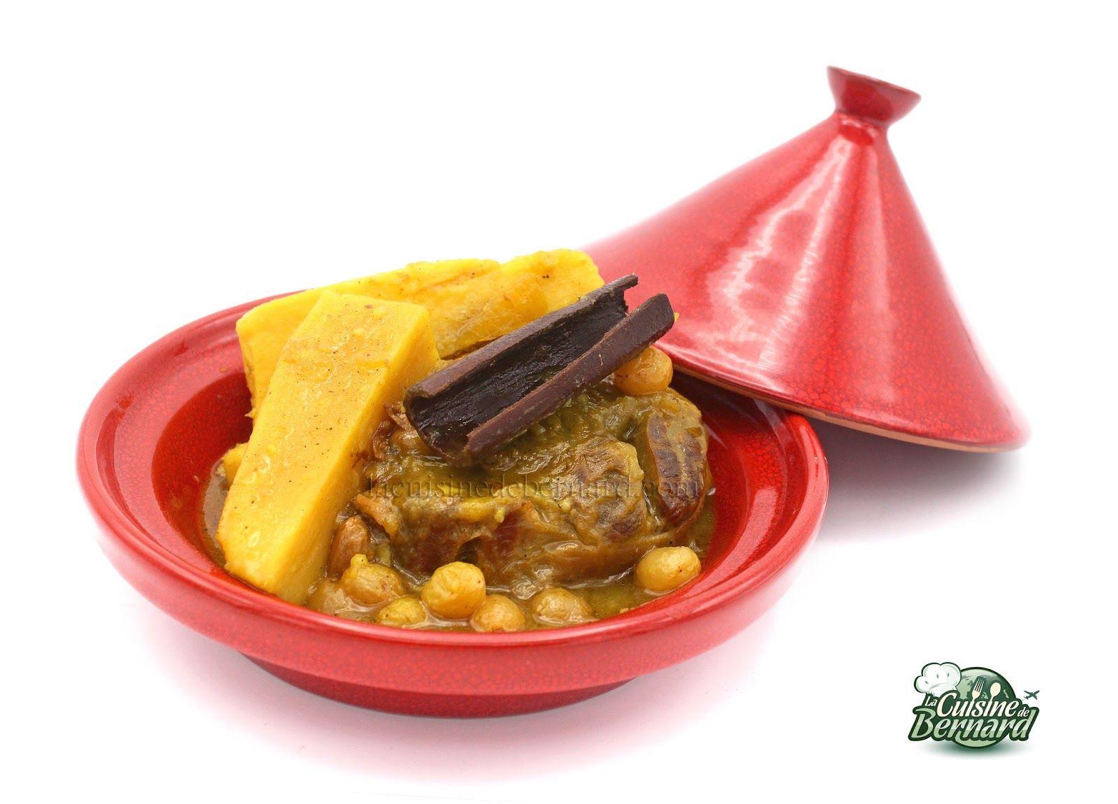 La cuisine de bernard tajine de veau aux patates douces for La cuisine de bernard