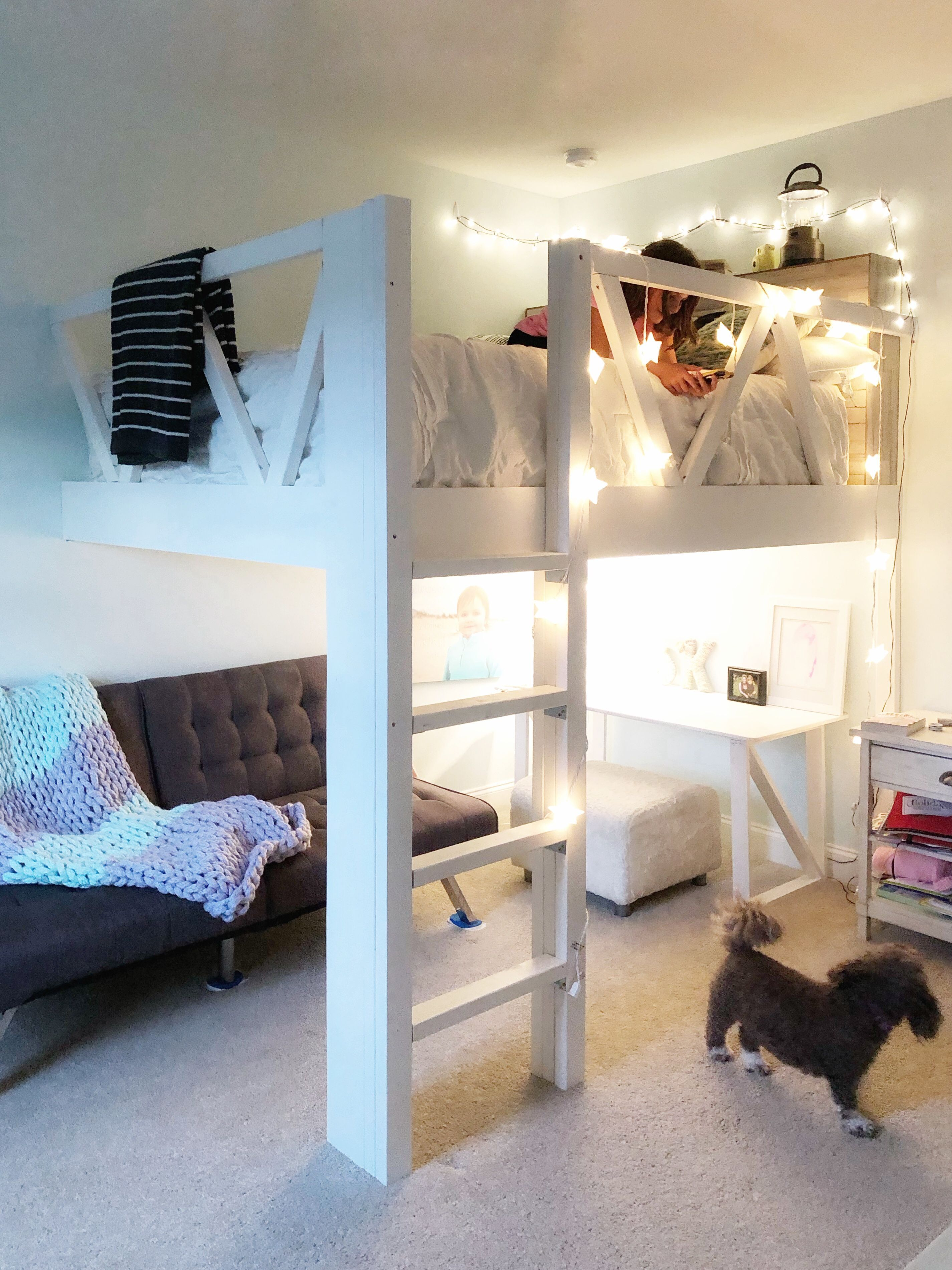 Diy Loft Bed Queen Size Under 225 Diy Loft Bed Queen Size Under 225 Fashion By Mayhem Fashionbymayhem F Loft Bed Plans Diy Loft Bed Girls Loft Bed Loft beds for small spaces