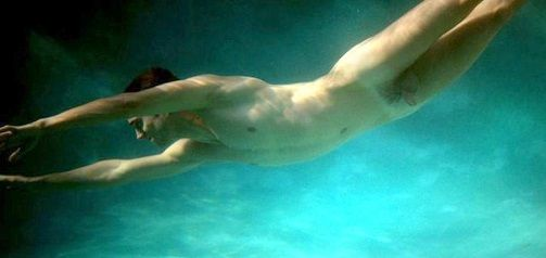 underwater naked male