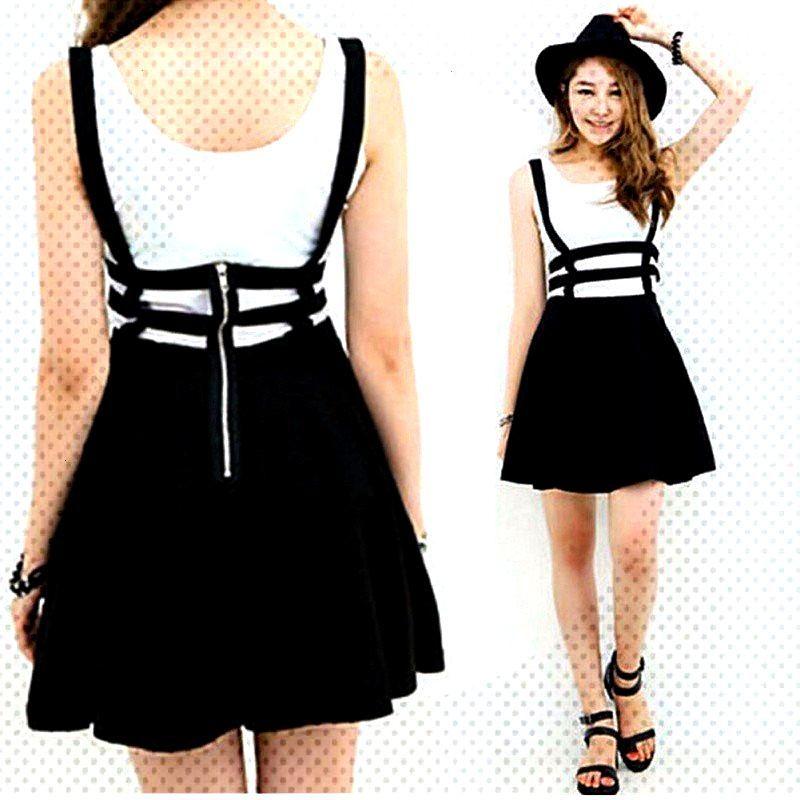 Kawaii Suspender Skirt -